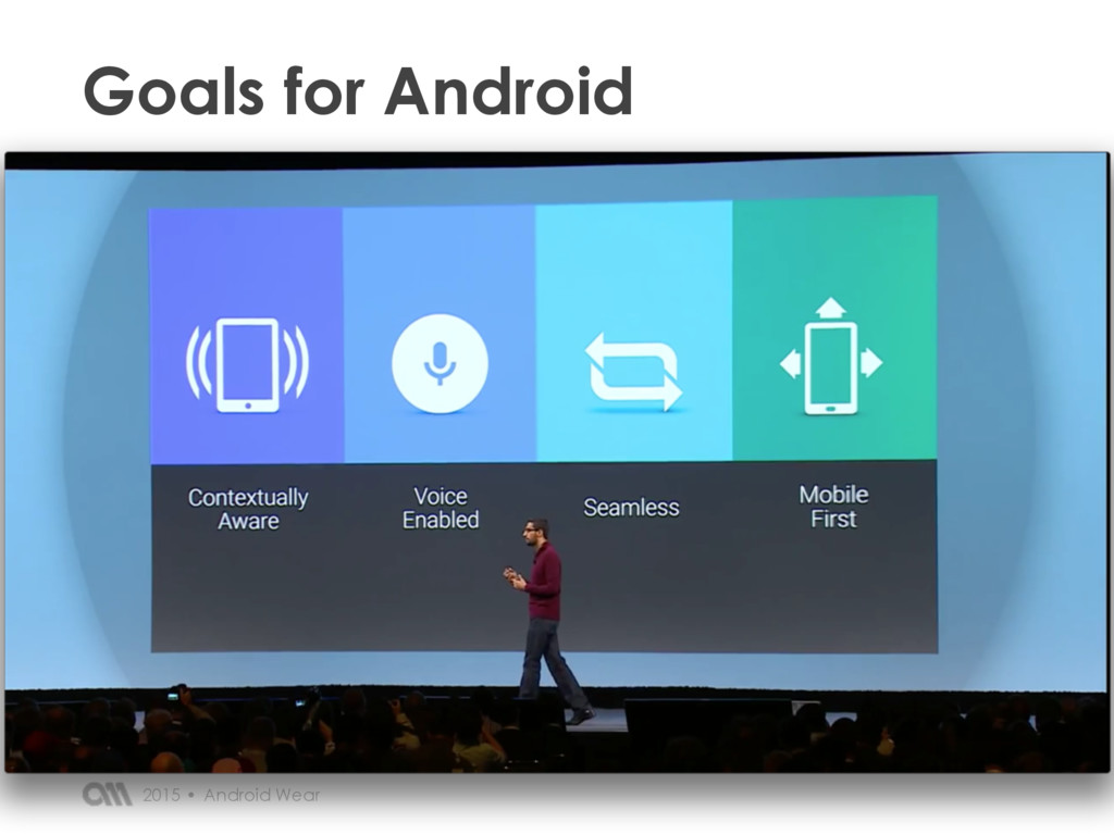 Android Wear 2015 • Goals for Android