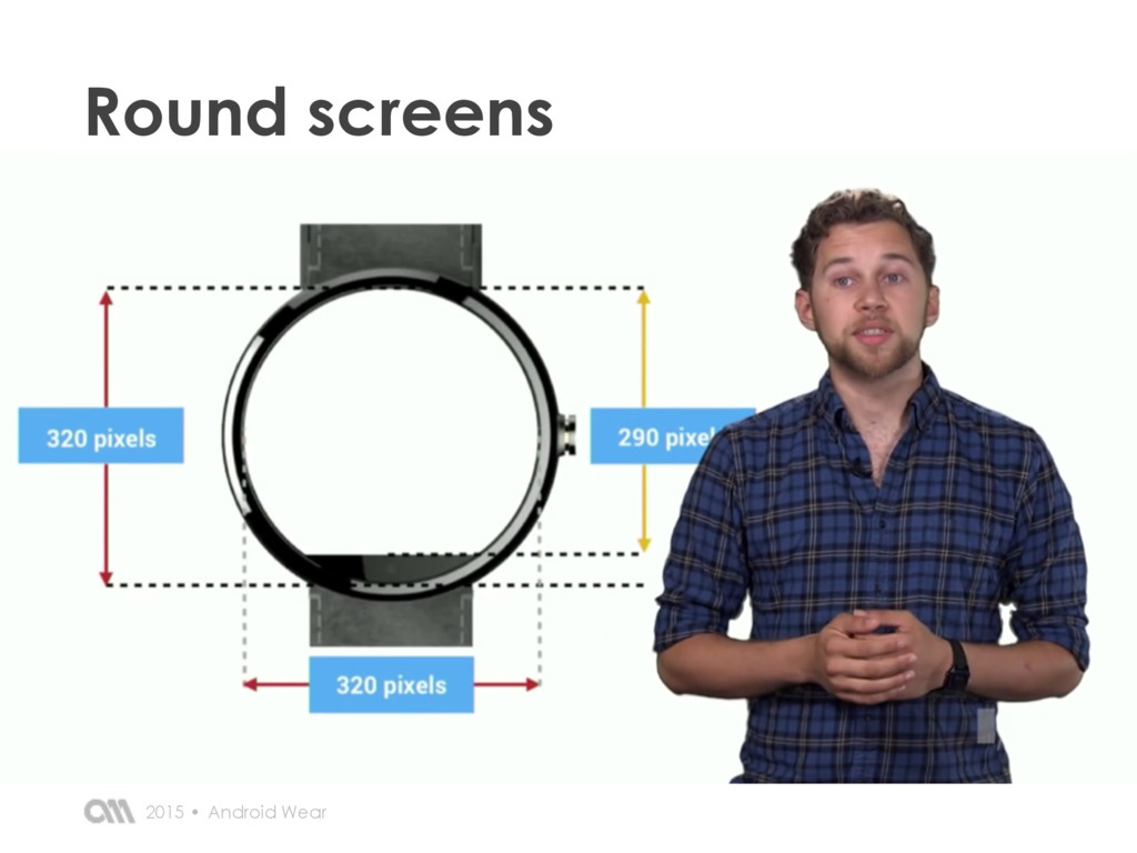 Round screens Android Wear 2015 •