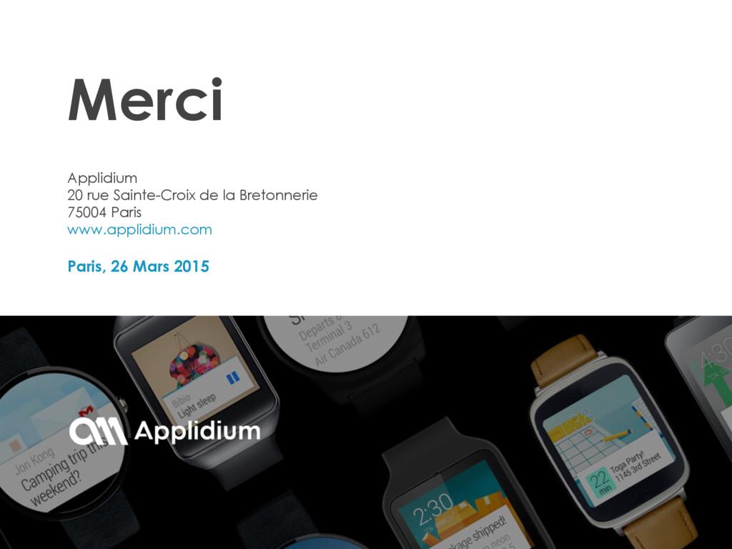 Paris, 26 Mars 2015 Applidium 20 rue Sainte-Cro...
