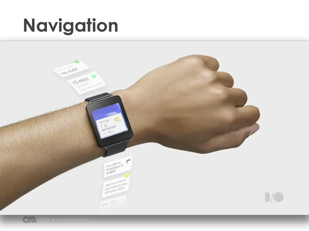 Navigation Android Wear 2015 •