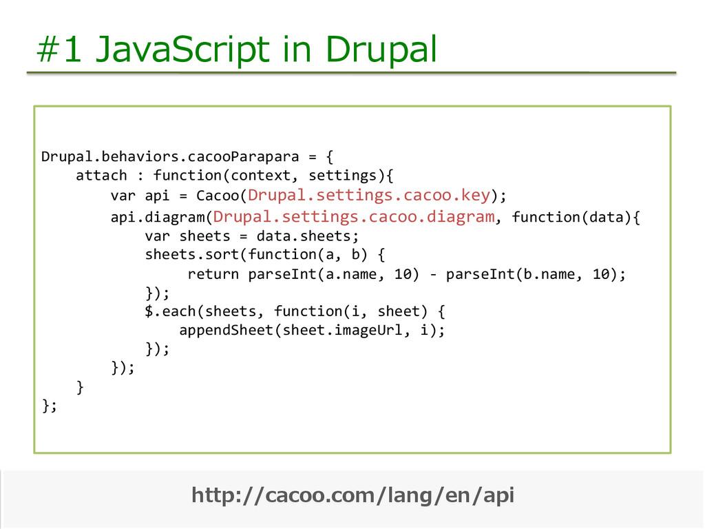 #1 JavaScript in Drupal Drupal.behaviors.cac...