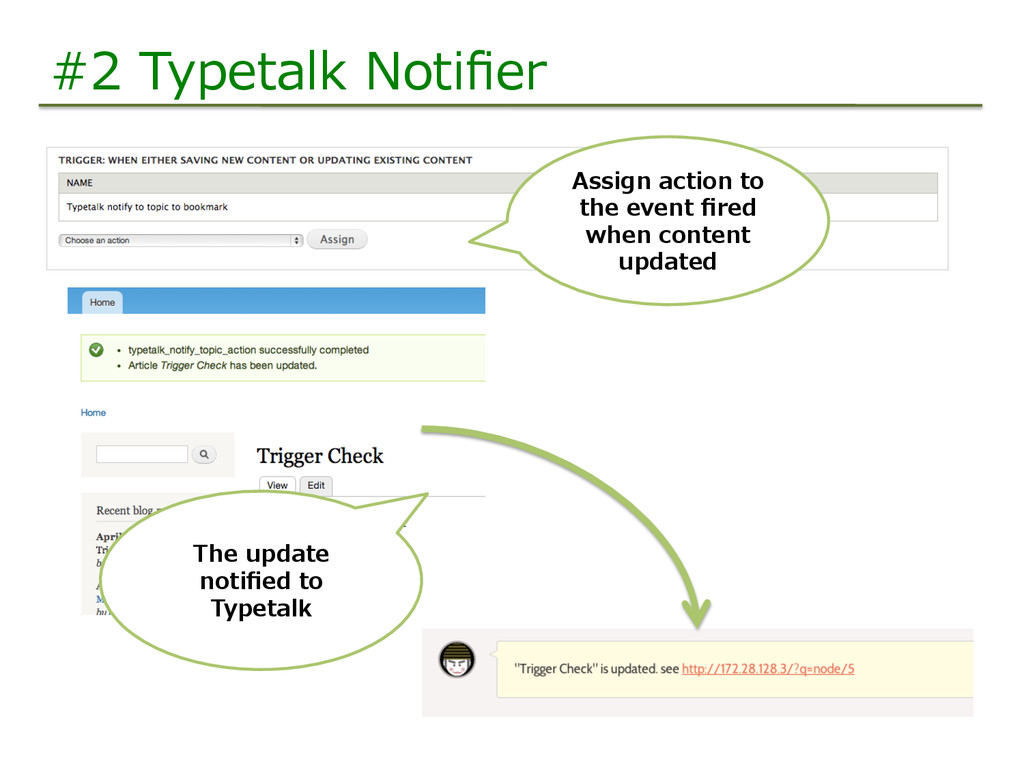 #2  Typetalk  Notifier Assign  action  to   the ...