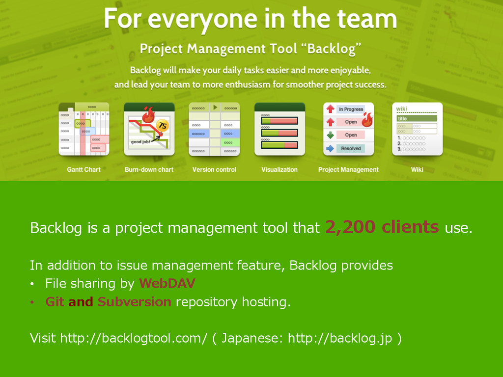 Backlog is a project management tool that...