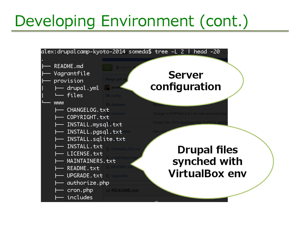 Developing Environment (cont.) Server  config...