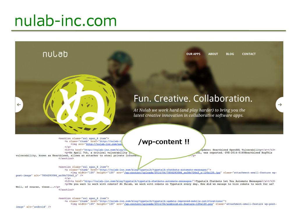 nulab-‐‑‒inc.com /wp-‐‑‒content !!