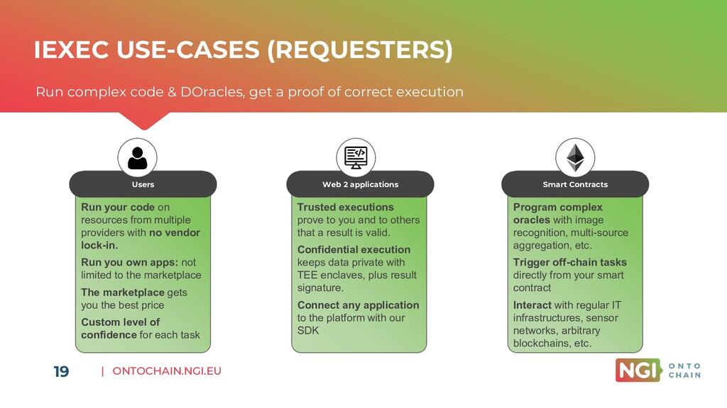 | ONTOCHAIN.NGI.EU 19 IEXEC USE-CASES (REQUESTE...