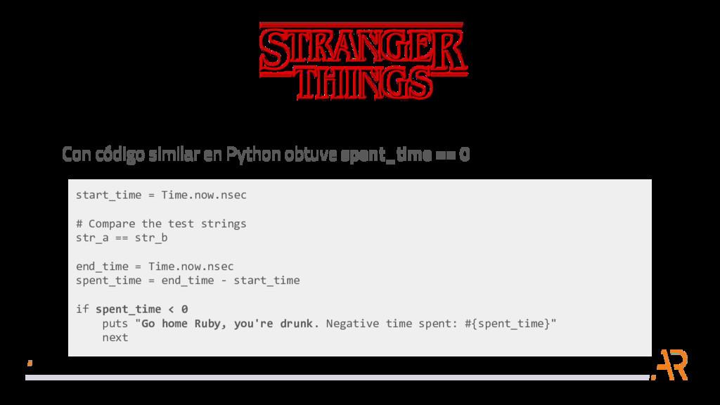 Con código similar en Python obtuve spent_time ...