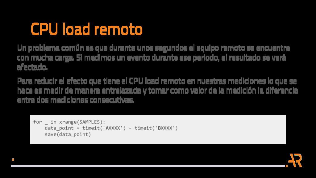 CPU load remoto Un problema común es que durant...