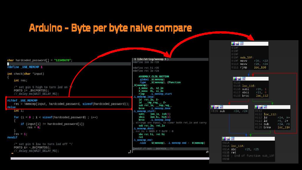 Arduino - Byte per byte naive compare