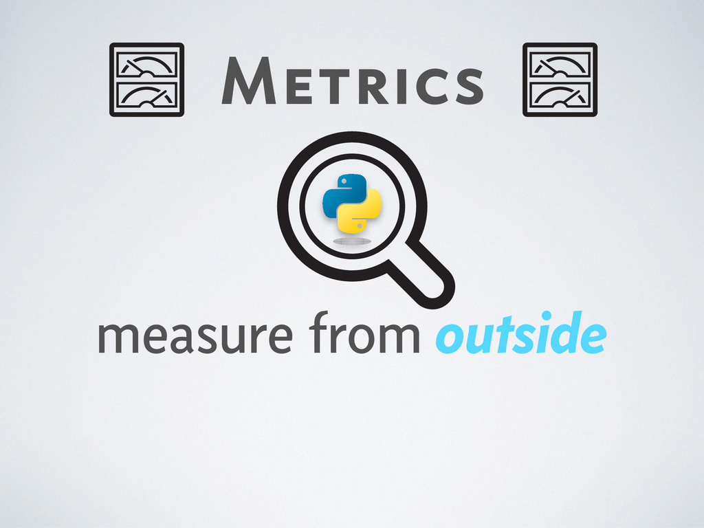 Metrics measure from outside