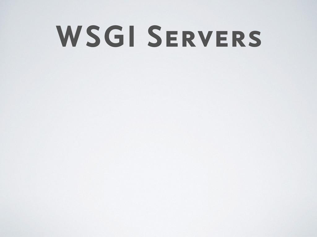 WSGI Servers