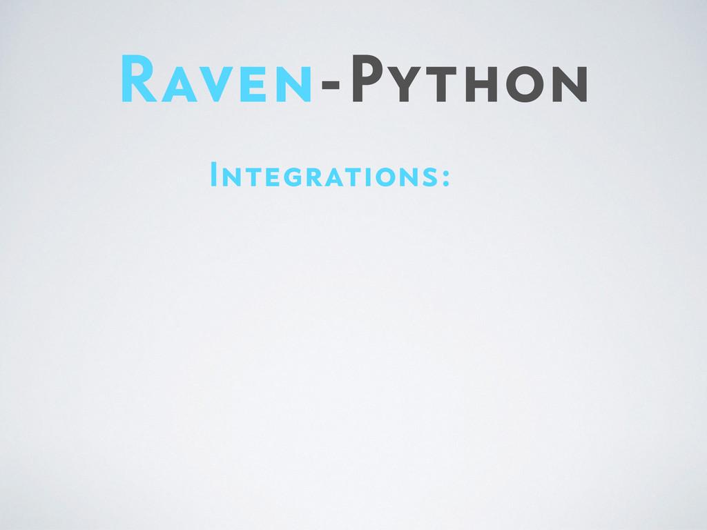 Raven-Python Integrations: