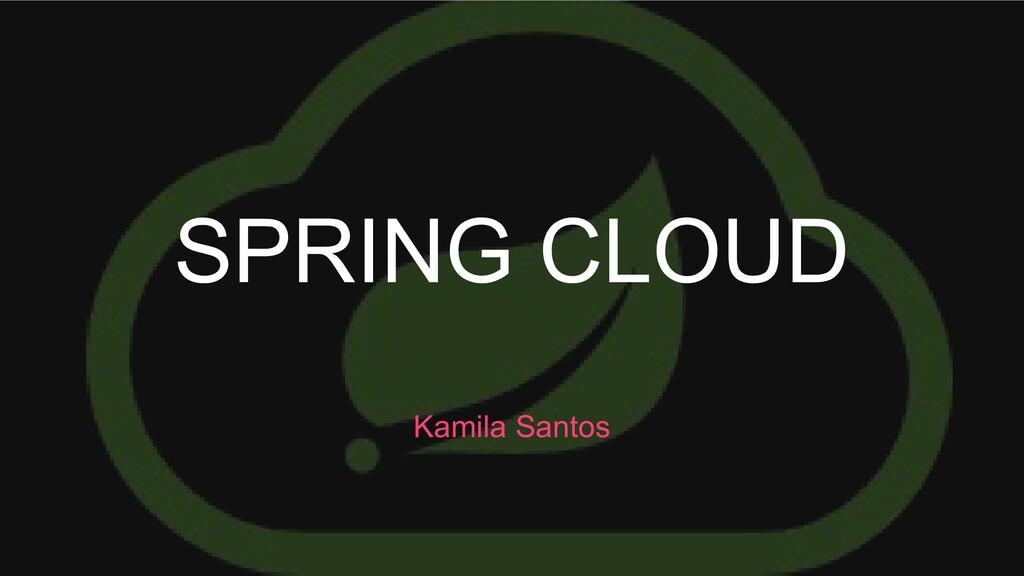 SPRING CLOUD Kamila Santos