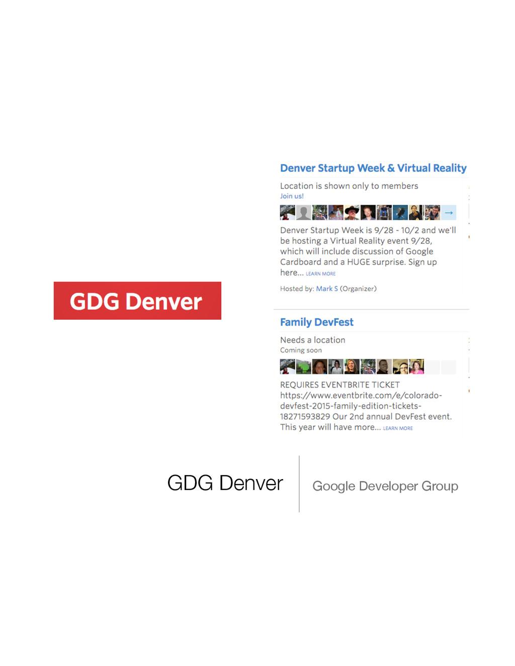 GDG Denver Google Developer Group
