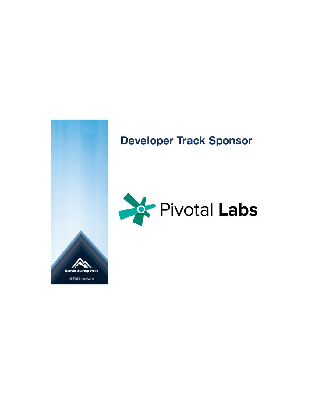Developer Track Sponsor