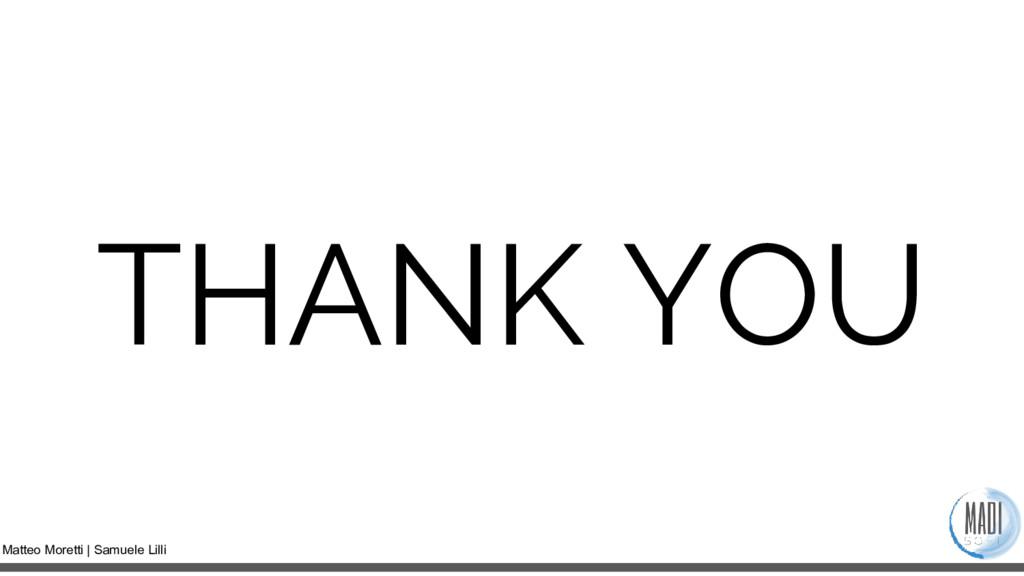 Matteo Moretti | Samuele Lilli THANK YOU