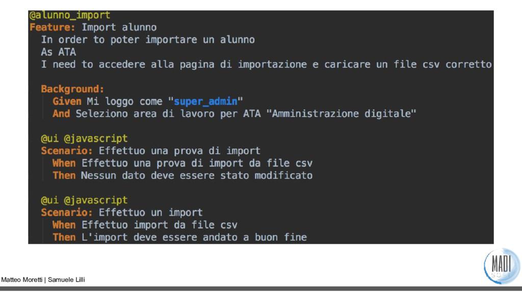 Matteo Moretti | Samuele Lilli
