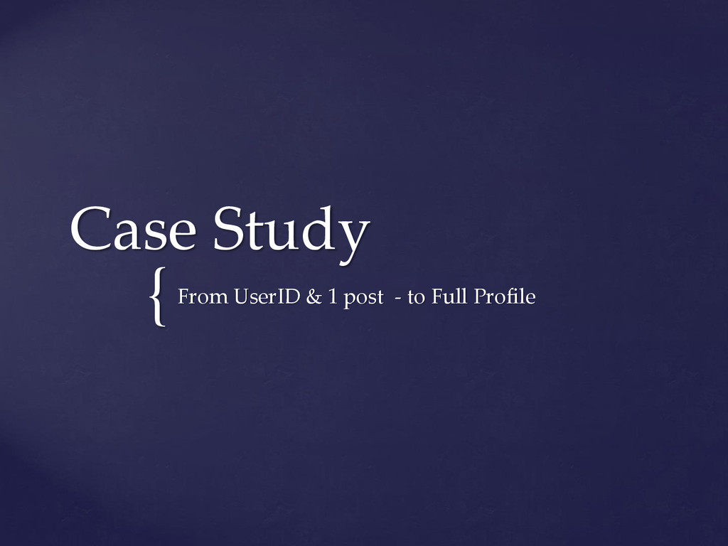 { Case Study From UserID & 1 post - to Full Pro...