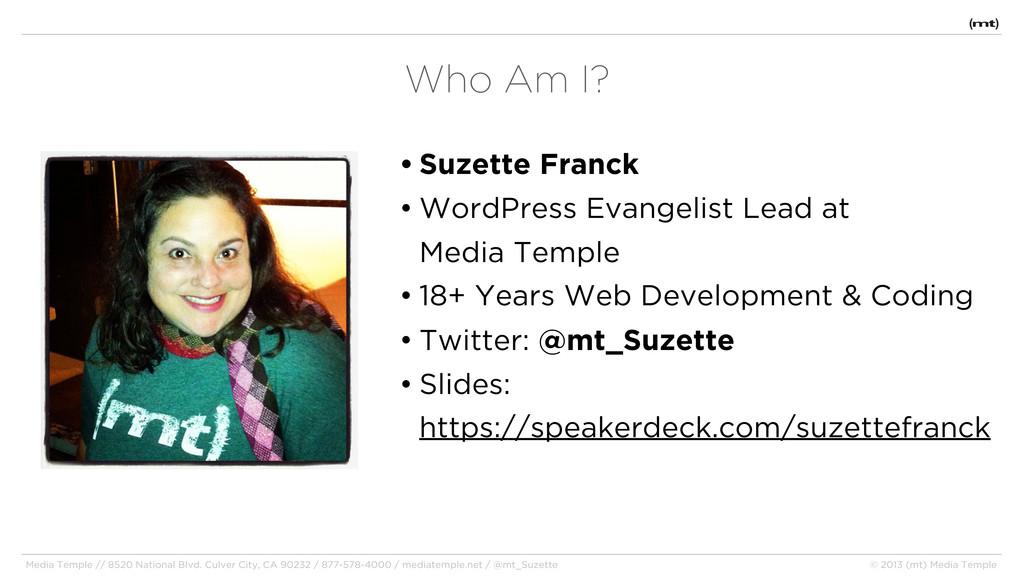 • Suzette Franck • WordPress Evangelist Lead at...