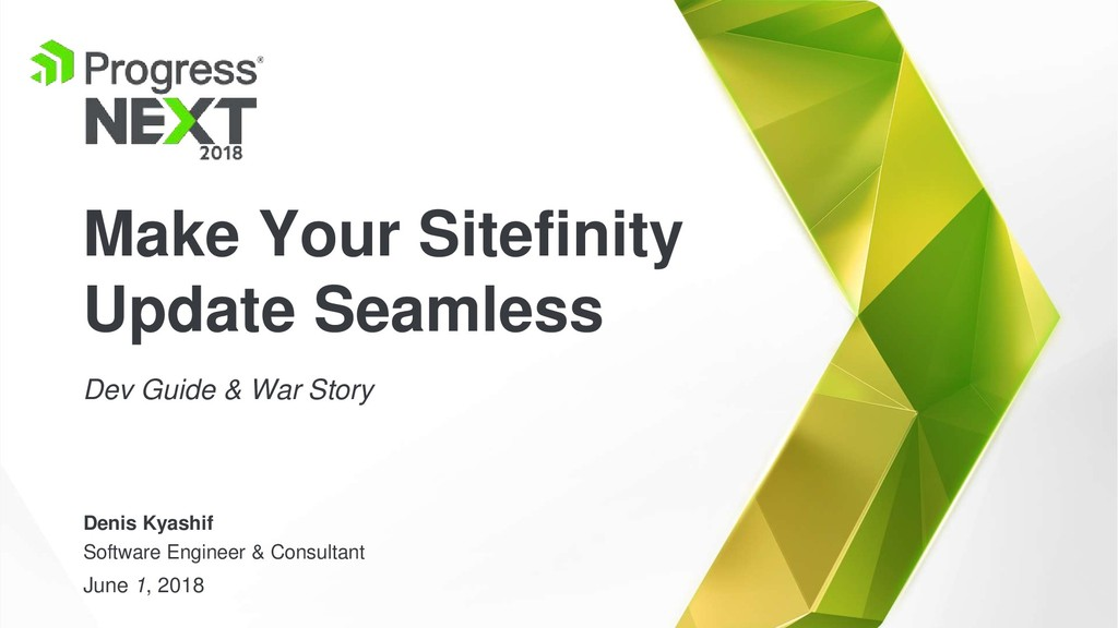 Make Your Sitefinity Update Seamless Dev Guide ...