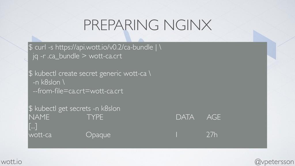 PREPARING NGINX $ curl -s https://api.wott.io/v...