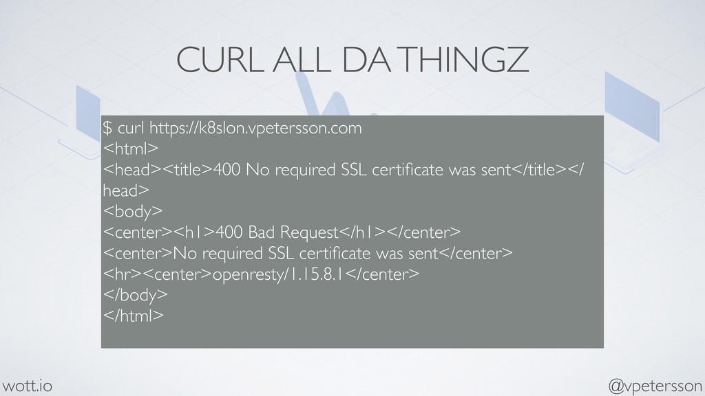 CURL ALL DA THINGZ $ curl https://k8slon.vpeter...