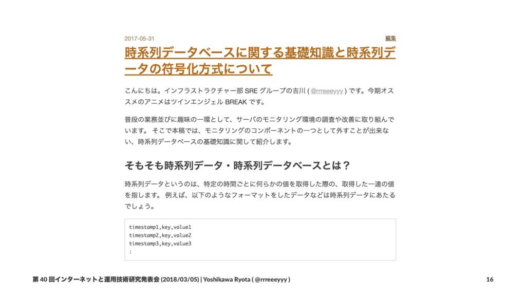 ୈ 40 ճΠϯλʔωοτͱӡ༻ٕज़ݚڀൃදձ (2018/03/05) | Yoshikaw...
