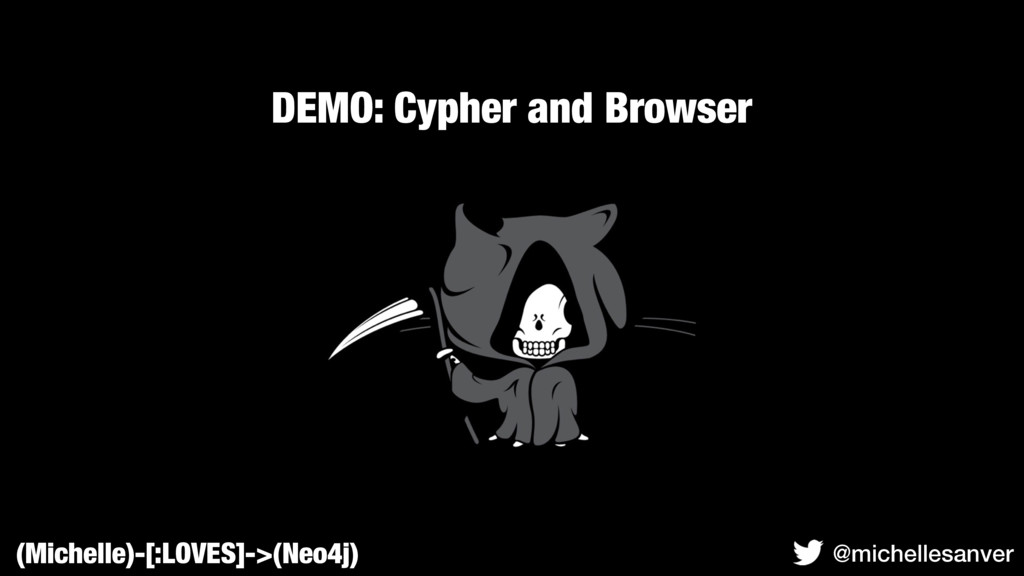 DEMO: Cypher and Browser (Michelle)-[:LOVES]->(...