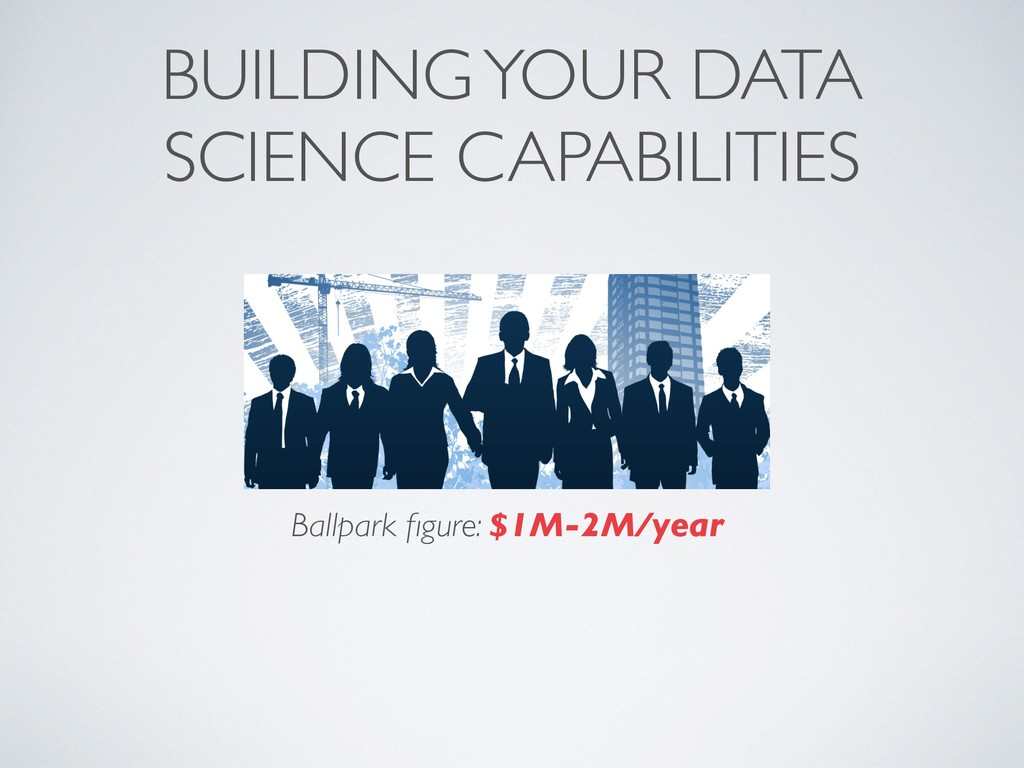 BUILDING YOUR DATA SCIENCE CAPABILITIES Ballpar...