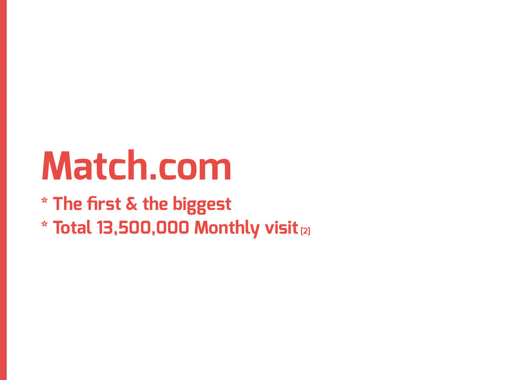 Match.com * The first & the biggest * Total 13,5...