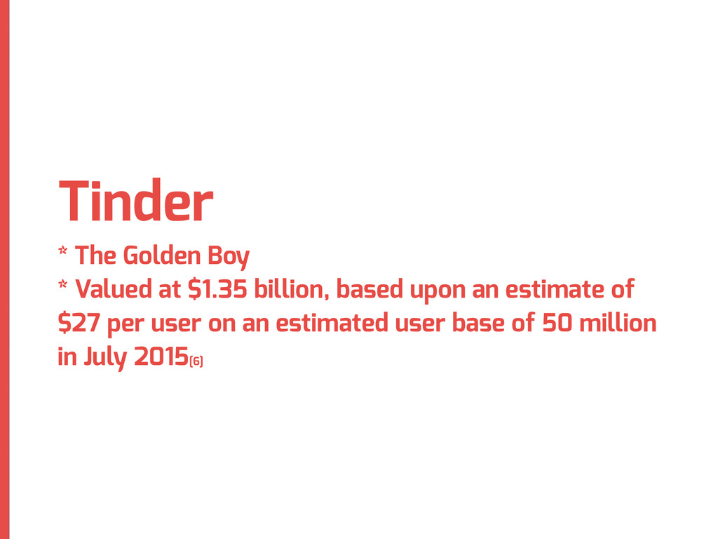 Tinder * The Golden Boy * Valued at $1.35 billi...