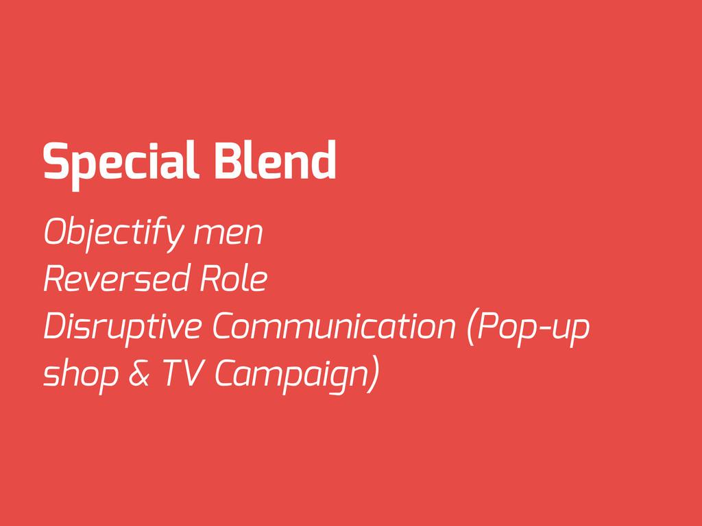 Special Blend Objectify men Reversed Role Disru...