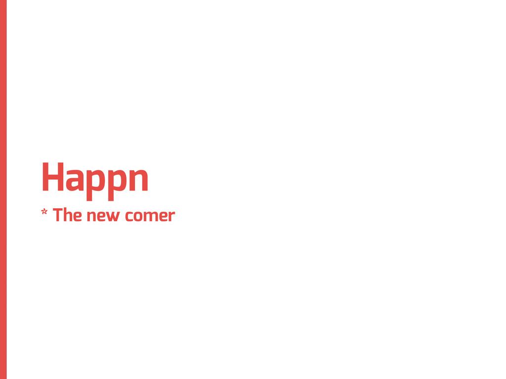 Happn * The new comer