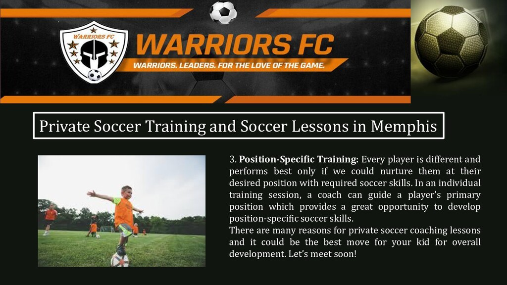 3. Position-Specific Training: Every player is ...
