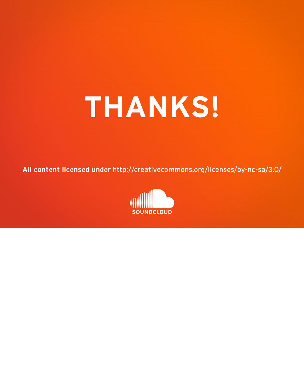 THANKS! All content licensed under http://creat...