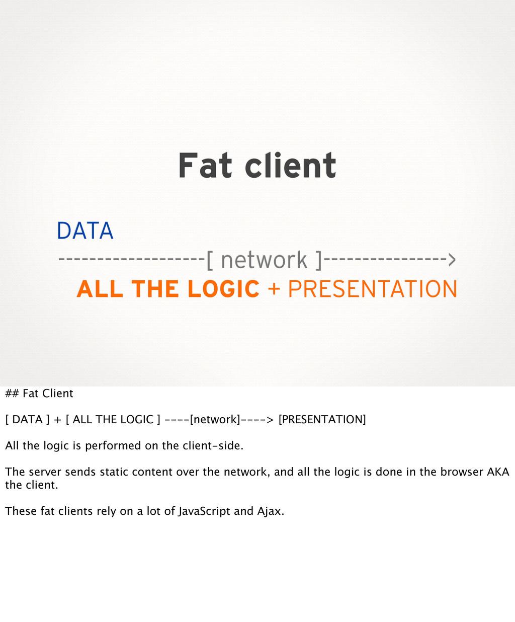 Fat client DATA -------------------[ network ]-...