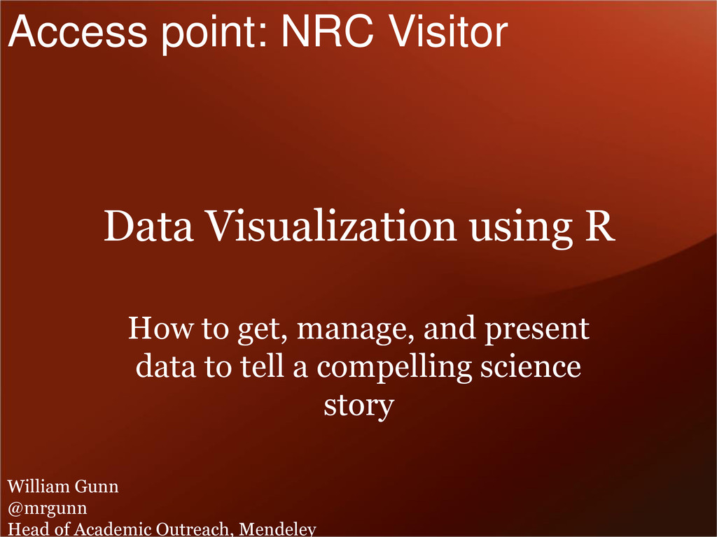 Data Visualization using R How to get, manage, ...