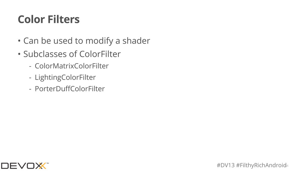 #DV13 #FilthyRichAndroid Color Filters • Can be...