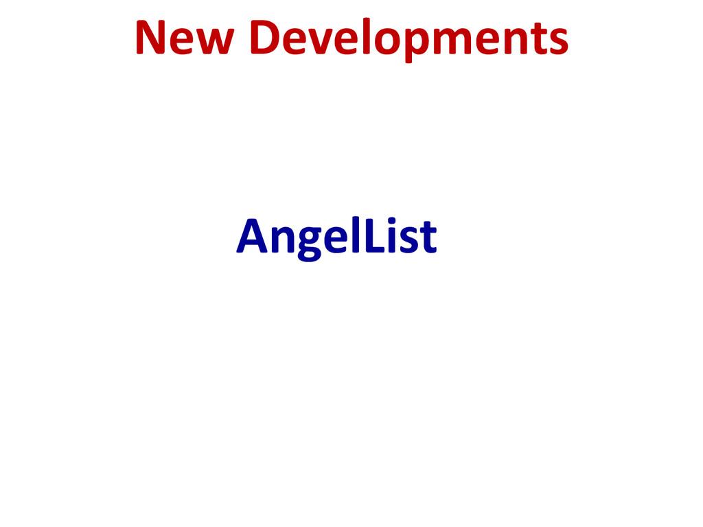 New Developments AngelList