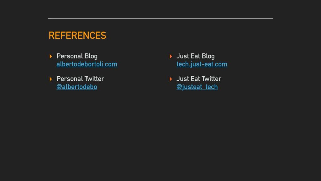 REFERENCES ▸ Personal Blog albertodebortoli.com...