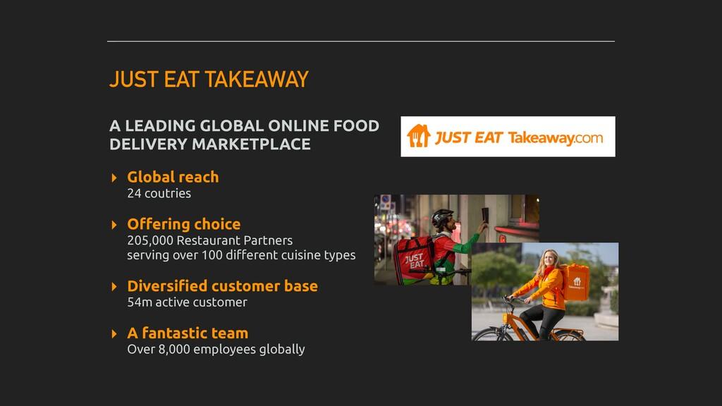 JUST EAT TAKEAWAY A LEADING GLOBAL ONLINE FOOD ...