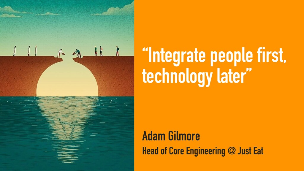 """""""Integrate people first, technology later"""" Adam..."""