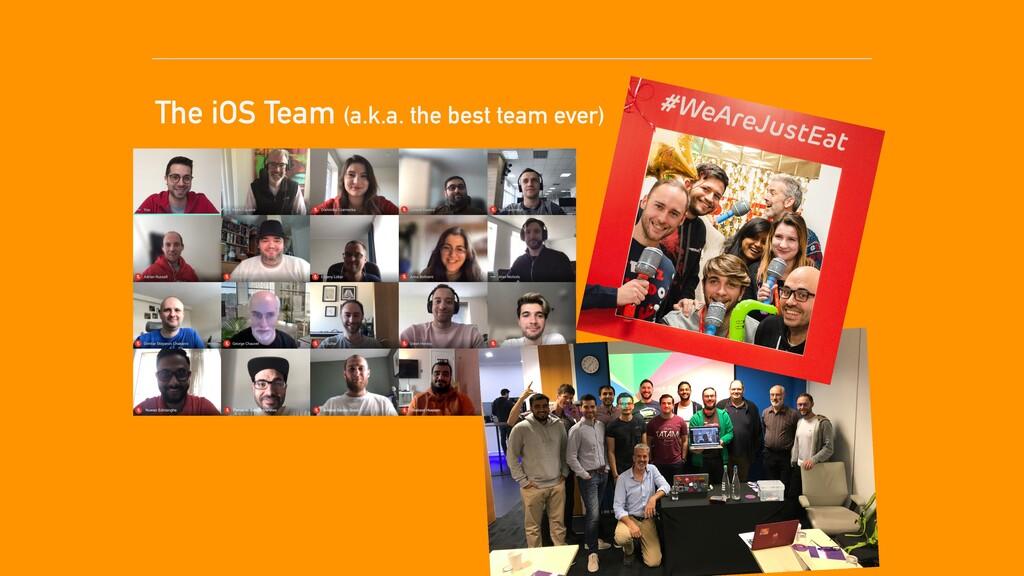 The iOS Team (a.k.a. the best team ever)