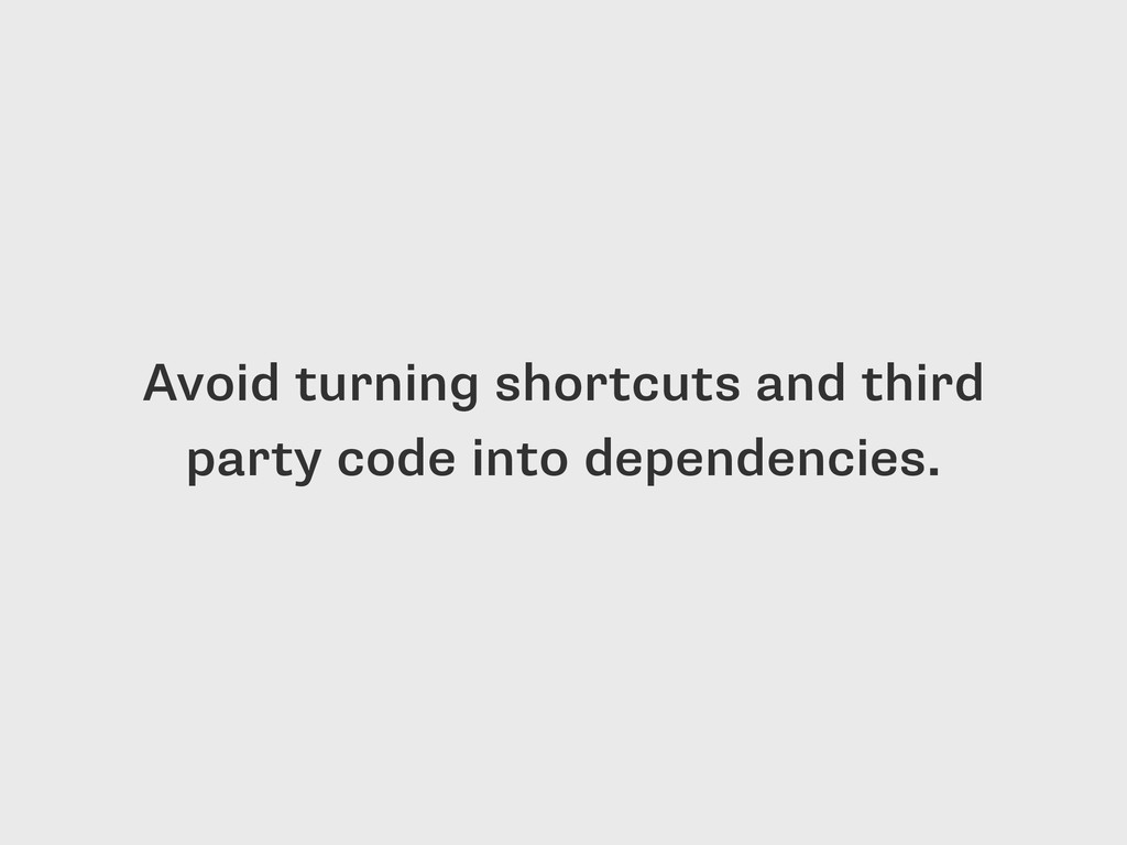 Avoid turning shortcuts and third party code in...