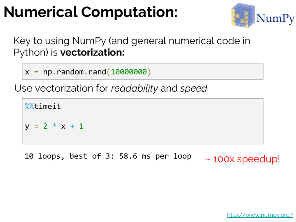 Numerical Computation: Key to using NumPy (and ...