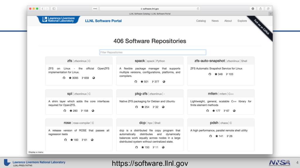 LLNL-PRES-747745 4 https://software.llnl.gov