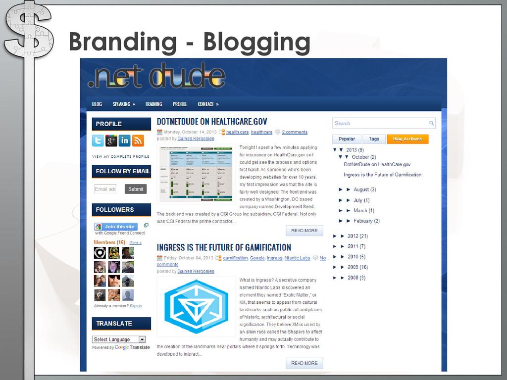 Branding - Blogging