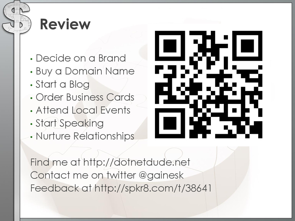 • Decide on a Brand • Buy a Domain Name • Start...