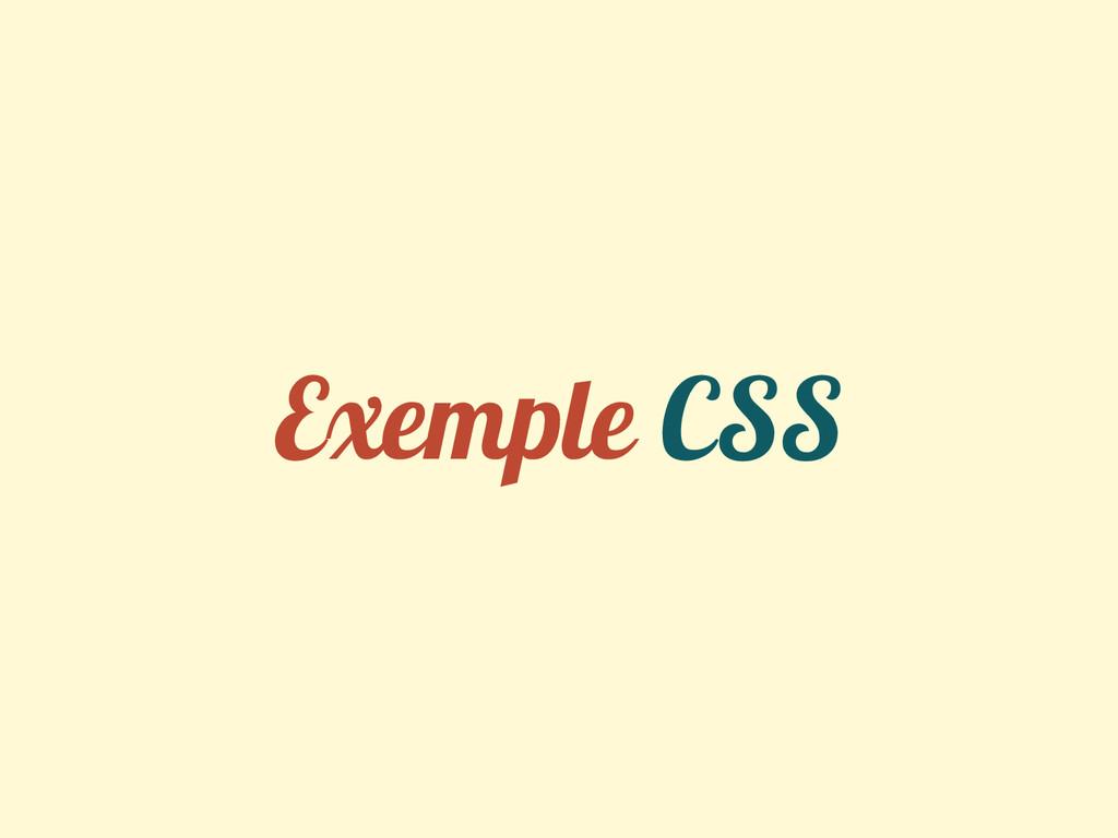Exemple CSS