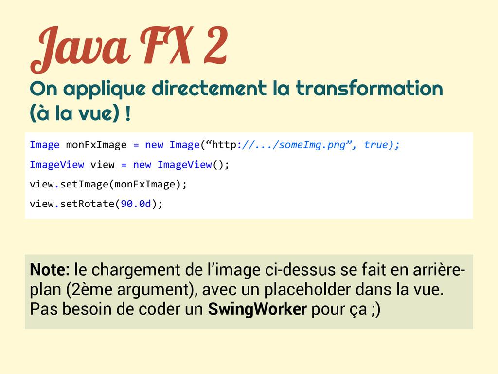 Java FX 2 On applique directement la transforma...